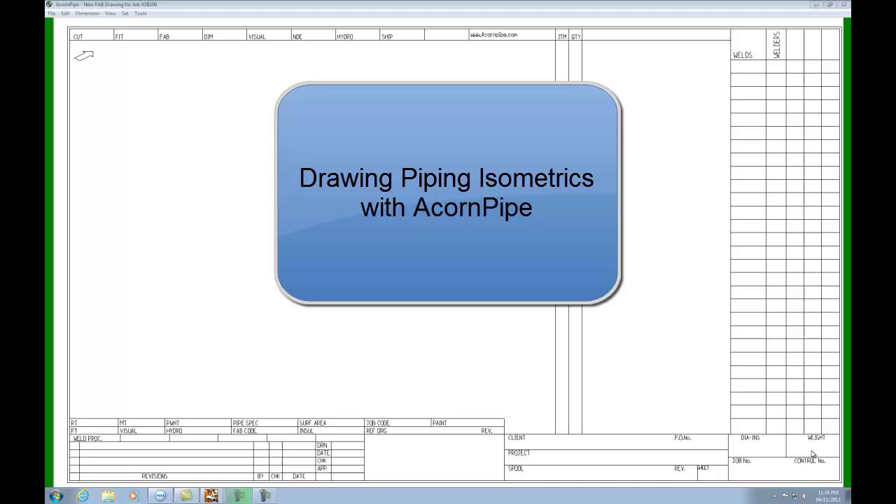 Acornpipe Piping Layout Notes